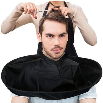 Rambling DIY Hair Cutting Cloak Umbrella Cape Breathable Hair Catcher Barber Bib Hairdressing Kit Salon And Home Stylists Using, Black/Gold/Silver (B#) : Beauty