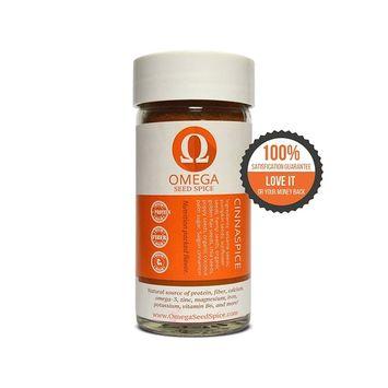 2 Pack - Omega Seed Spice™ Seed-based Superfood Cinnamon Seasoning - Nutrition-packed Flavor - High In Protein, Fiber, Essential Vitamins, Minerals & Amino Acids [Cinnamon Seasoning]