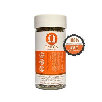 2 Pack - Omega Seed Spice™ Seed-based Superfood Pink Salt & Pepper Seasoning - Nutrition-packed Flavor - High In Protein, Fiber, Essential Vitamins, Minerals & Amino Acids [Pink Salt+Pepper Seasoning]