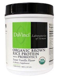 Davinci Labs - Organic Brown Rice Protein with Probiotics - 1.19 lb Powder
