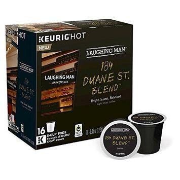 Laughing Man 184 Duane St. Blend Coffee Keurig K-Cups, 64 Count [184 Duane St. Blend Coffee]