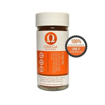 3 Pack - Omega Seed Spice™ Seed-based Superfood Cajun Seasoning - Nutrition-packed Flavor - High In Protein, Fiber, Essential Vitamins, Minerals & Amino acids [Cajun Seasoning]