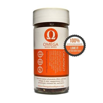 Omega Seed Spice™ Seed-based Superfood Sweet Cacao Seasoning. - Nutrition-packed Flavor - High In Protein, Fiber, Essential Vitamins, Minerals & Amino acids [Cacao Nut Seasoning]