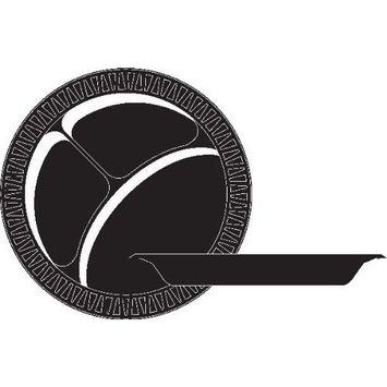 Dart 10PBQR 10.25 in Black Laminated Foam Plate (Case of 500)
