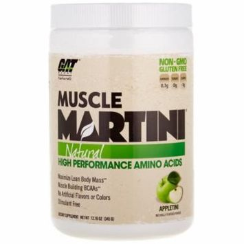 GAT Muscle Martini Natural BCAA Formula, Apple, 30 Servings