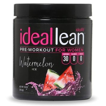 IdealLean, Best Pre Workout For Women - Energy Boost, Increase Training Intensity, Mental Focus, Results, Beta-Alanine, Low Calorie & Healthy, 30 - Servings (Cherry Limeade)