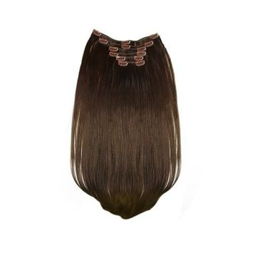 Tressecret Synthetic Clip-In Six Piece Extensions, Dark Chocolate, 22 Inch