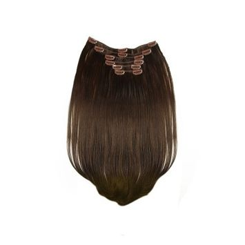Tressecret Synthetic Clip-In Six Piece Extensions, Dark Chocolate, 18 Inch