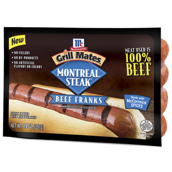 McCormick® Grill Mates® Montreal Steak Beef Franks