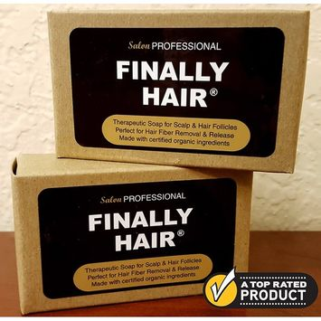 Shampoo & Conditioner Bars To Help Prevent Hair Loss. Two Therapy Bars Packed with Organic Ingredients Fight Hair Loss For Healthier Hair & Fiber Removal (2 Pack - two 4 oz bars)