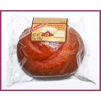 Bon Appetit Strawberry Cheese Muffin, 5.5 Ounce (Pack of 8)