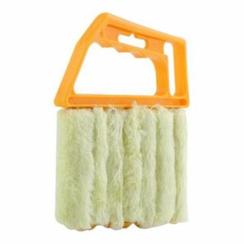 Window Mini-Blinds Cleaning Brush, Microfiber Shutters Window Dust Cleaning Brush, Portable Washable and Rust Proof Brush, Lightweight Duster Cleaning, Home Office Cleaning Tools - Easy Use