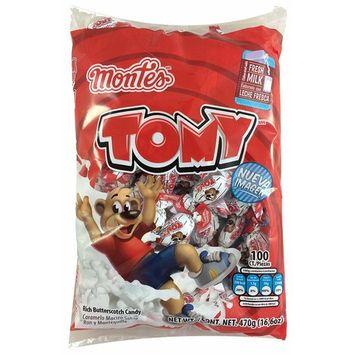 Tomy Rich Butterscotch Candy 100pcs (Net Weight 16.6oz)