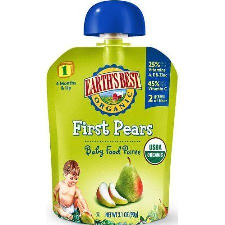 Earth's Best Organic® First Pears Baby Food Puree