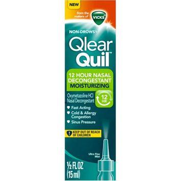 QlearQuil™ 12 Hour Nasal Decongestant Moisturizing Ultra Fine Mist