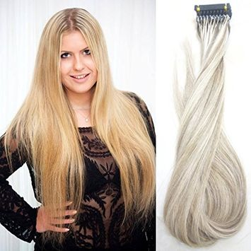 ShineLuxe 6D Hair Extensions the Best Hair Extensions in the World 16'' #613 Bleech Blonde 6D High End Connection Technology a Nicer Experience to Wear Hair Extensions