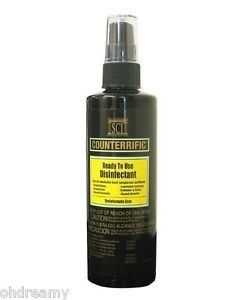 Stone Care International SCI Counterrific Ready to USe Disinfectant 8 oz Spray bottle