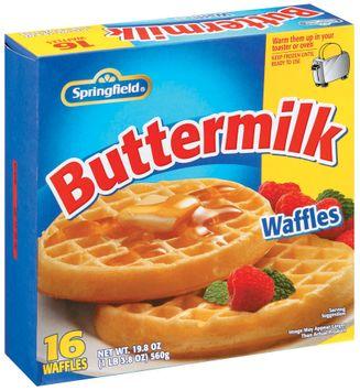 Springfield Buttermilk Waffles 16 Ct Box
