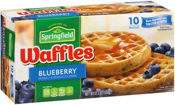 Springfield® Blueberry Waffles 10 ct Box