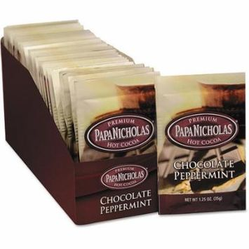 PapaNicholas Chocolate Peppermint Premium Hot Cocoa Mix, 1.25 oz, 24 count