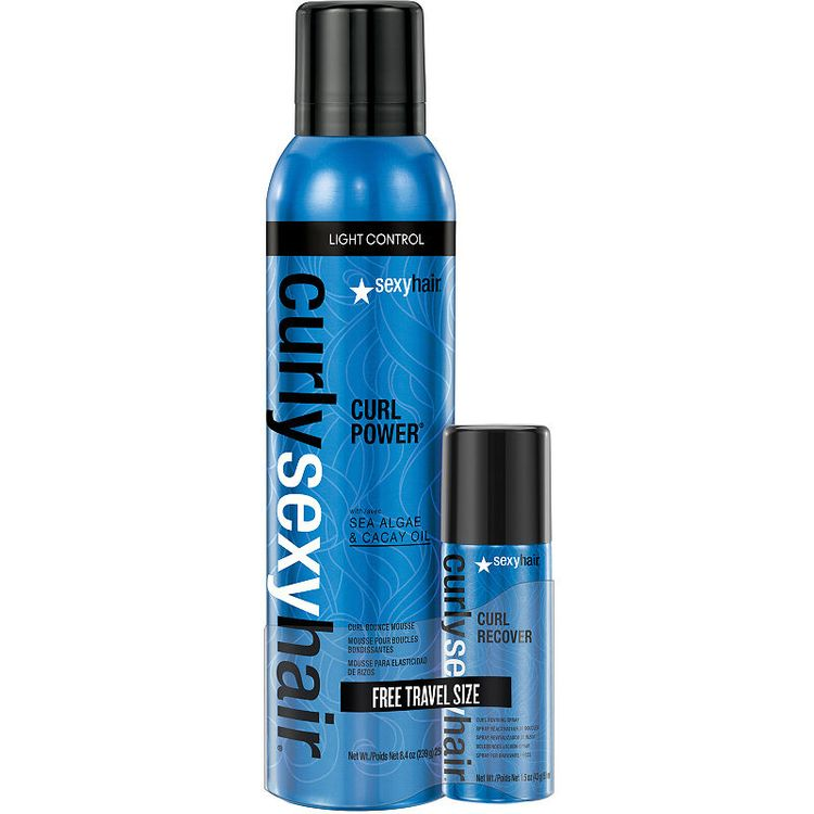 Sexy Hair Concepts Curly Sexy Hair Curl Power W/ Free Curl Recover Mini (1.3 Oz.) 2-pc. Value Set - 8.4 oz.
