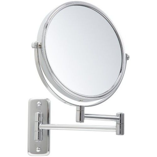 "Jerdon JP7504CF First Class 4X Wall Mount Mirror, 8"", 4X-1X Magnification, Chrome"