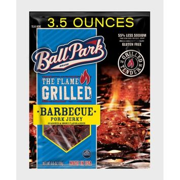 Ball Park Flame Grilled Pork Jerky, Barbecue, 3.5, Oz