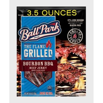 Ball Park Flame Grilled Beef Jerky, Bourbon BBQ, 3.5 Oz