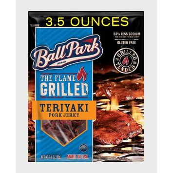 Ball Park Flame Grilled Pork Jerky, Teriyaki, 3.5, Oz