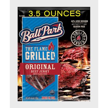 Ball Park Flame Grilled Beef Jerky, Original, 3.5, Oz