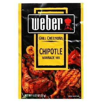 10 Pack Weber Grill Chipotle Marinade Mix 1.12 oz. Easy to use