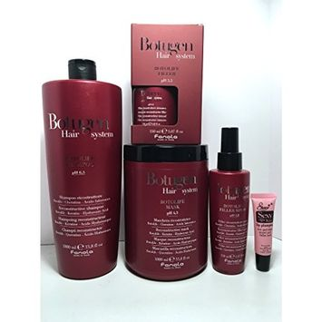 Botugen Botolife Set Reconstructive Shampoo Ph 6.5 33.8 Oz, Reconstructive Mask Ph 4.5 33.8 Oz ,Intensive Reconstructor Filler/ Boto Treatment Ph 5.5 5.07 Oz and Reconstructor Filler Spray 5.07 Oz