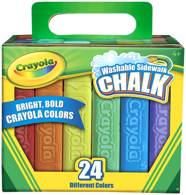 CRAYOLA LLC BIN512024 CRAYOLA WASHABLE SIDEWALK CHALK 24