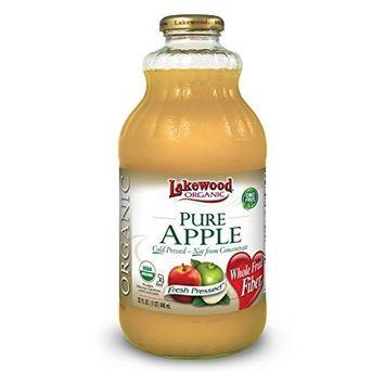 Lakewood Organic Apple Juice, 32-Ounce Bottles (Pack of 6)