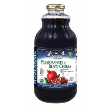 Lakewood Organic Biodynamic Juice, Pomegranate and Black Cherry, 32 Ounce (Pack of 6)