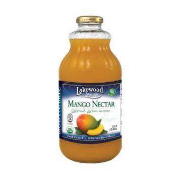 Lakewood Organic Biodynamic Juice, Mango Nectar, 32 Ounce (Pack of 6)