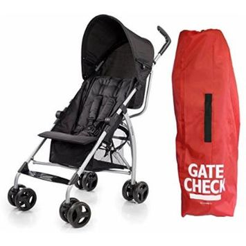 Go Lite Convenience Stroller with Gate Check Bag, Black Jack