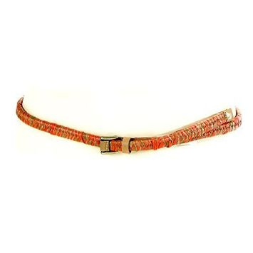 Nine West Women's Coral Woven Straw Stretch Belt Size Small