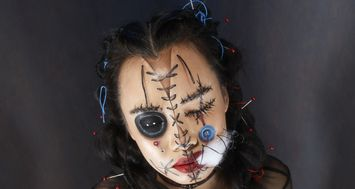 Dark Magic Doll Halloween Makeup DIY