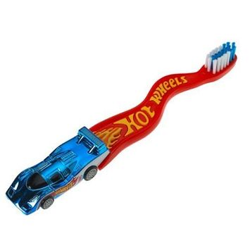 Zoothbrush Manual Toothbrush, Hot Wheels, 1 count (Colors and Styles May Vary)