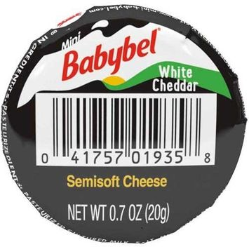 Mini Babybel White Cheddar Cheese, 0.7 Ounce -- 30 per case.