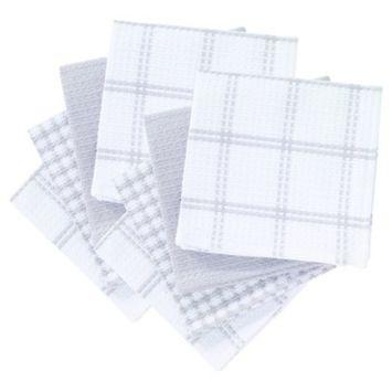 8pk Flat Waffle Kitchen Dish Cloth (12
