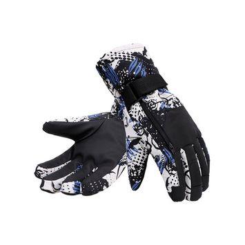 Men's Camouflage Ski & Snowboarding 3M Thinsulate Waterproof Winter Gloves,L,BlueCamo