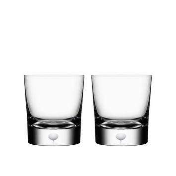 Orrefors Intermezzo Satin Old Fashioned/Whiskey Pair