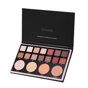 FOCALLURE 18 Colors Eyeshadow Palette Pearlized Shimmer Matte Eye Shadow Set Powder Makeup Cosmetics