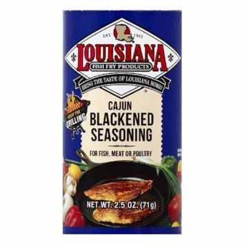 Louisiana Cajun Blackened Seasoning, 2.5 OZ (Pack of 12)