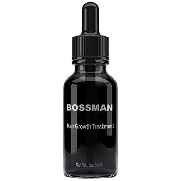 Mens Hair Skin Face Treatment By BOSSMAN Hair Growth Treatment and Hair Regrowth Product for Men (Hair Growth Treatment Bottle)