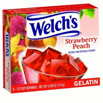 WELCH'S Gelatin, Strawberry Peach, 3.99 Oz, 12 Ct