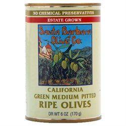 SANTA BARBARA OLIVES Cal Green Pitted Olives 6 OZ