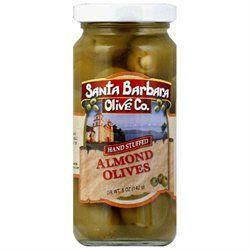 SANTA BARBARA OLIVES Green Almond Stuffed Olives 5 OZ
